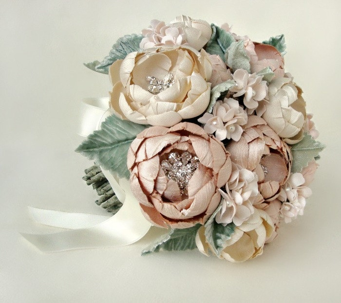 Grand Petite Silk Fabric Bouquet by EmiciBridal on Etsy, $800.00