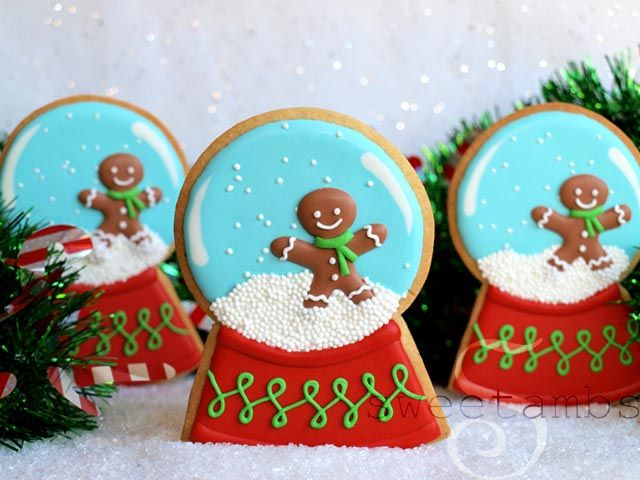 Snow Globe Gingerbread Man Cookies