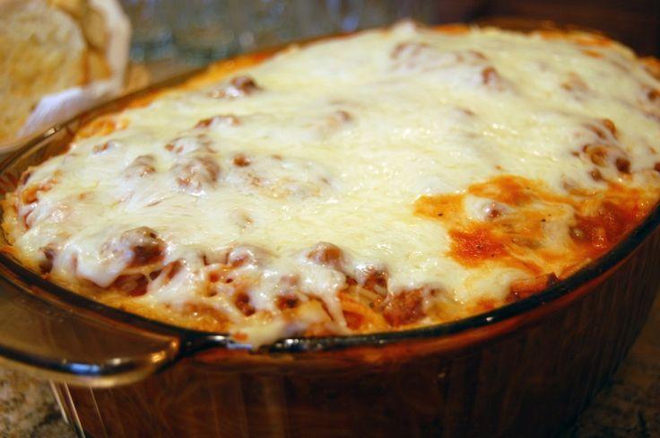 Baked Spaghetti: Maine Dishes, Ground Beef, Baking Spaghetti, Casseroles, Food, New Recipe, Bakedspaghetti, Favorite Recipe, Baked Spaghetti