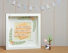 Pink Puffin Crafts | Framed Collection | Flowers & Words | £25 | www.pinkpuffincrafts.co.uk
