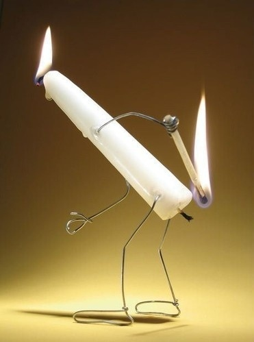 Gives a whole new meaning to lighting a fire under your ass.