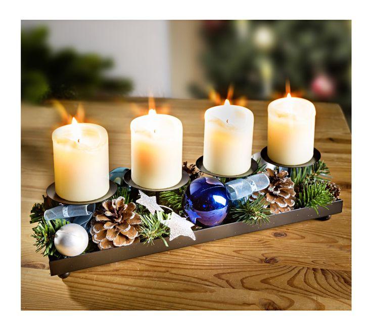 Kovový svietník s dekoráciu | vypredaj-zlavy.sk #vypredajzlavy #vypredajzlavysk #vypredajzlavy_sk #home #homedecor #domov #vanoce #dekorace