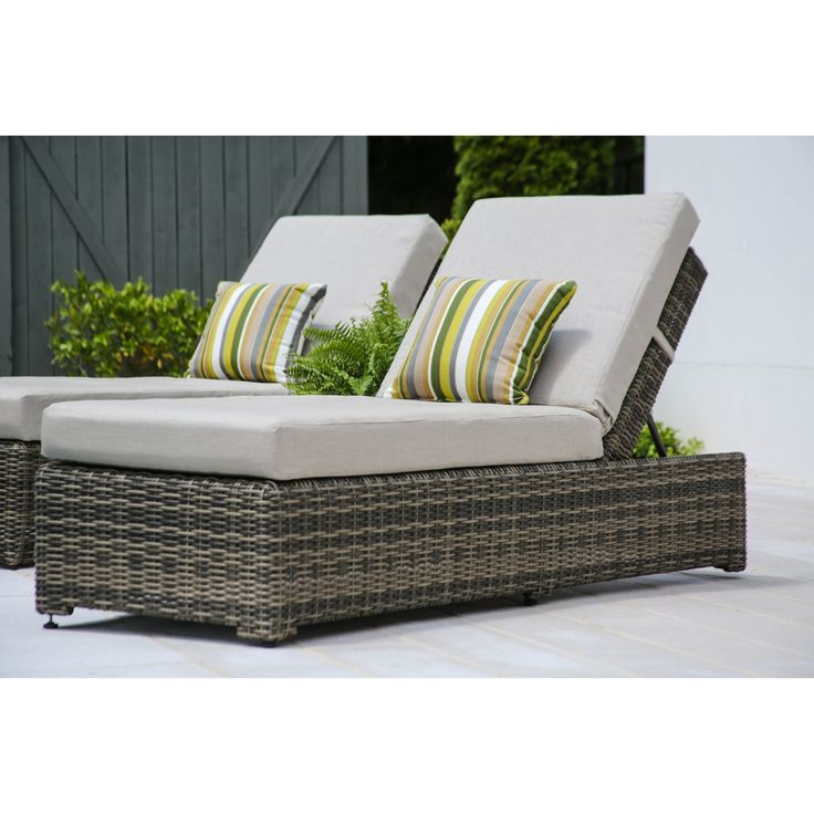 AE Outdoor Cherry Hill Outdoor Wicker Chaise Lounge - ACC569110-CAST ASH
