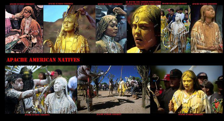 Il rito della pubertà delle ragazze Apache o cerimonia dell'Alba, viene celebrata per 4 giorni nel mese di luglio per festeggiare il passaggio all'età adulta delle giovani donne Apache cioè quando una ragazza ha il menarca (primo ciclo mestruale).
