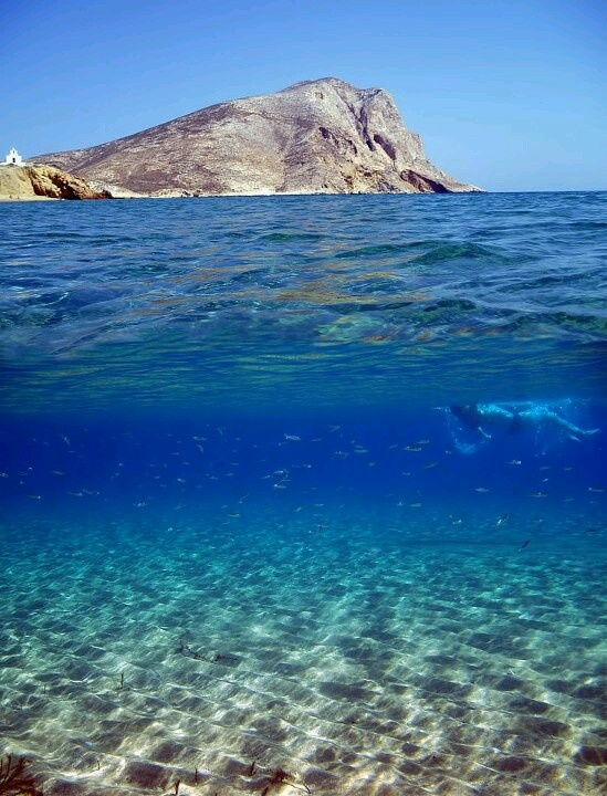 Anafi island, Greece...underwater