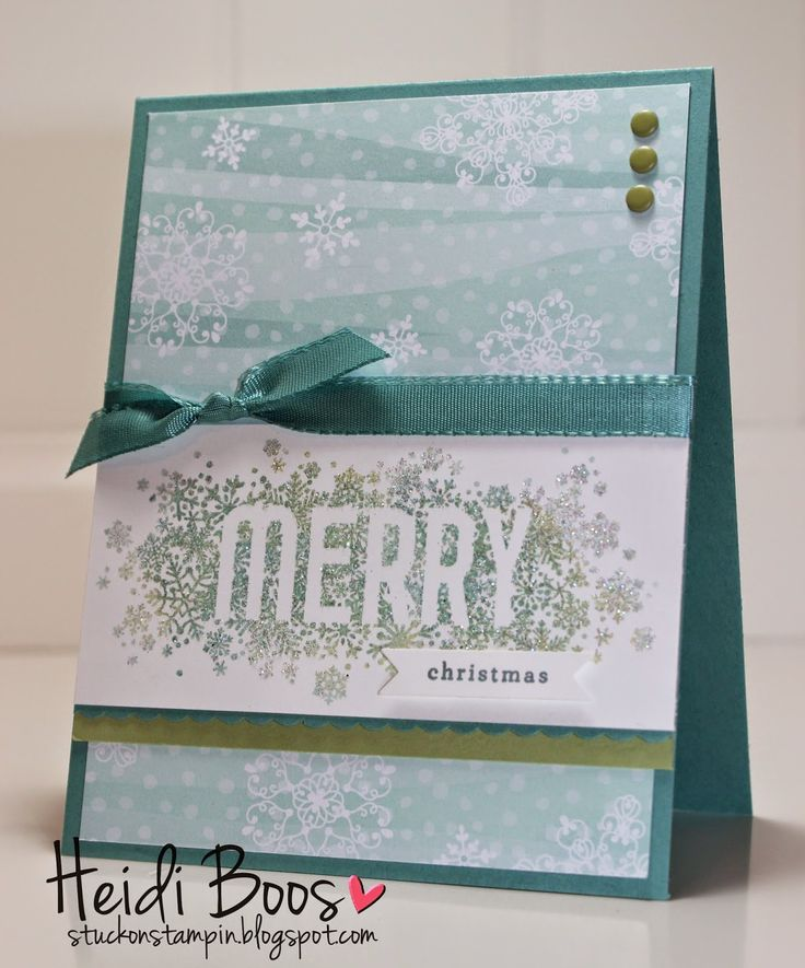Heat & Stick Powder with Dazzling Diamonds Glitter Technique, Stylin Stampin Inkspiration, Stuck on Stampin, Heidi Boos, Seasonally Scattered, Christmas, Merry, Stampin' Up