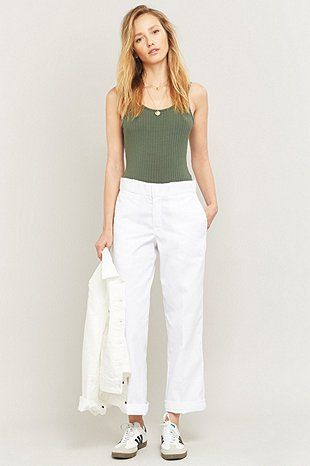 Dickies Original 874 White Work Trousers - Urban Outfitters