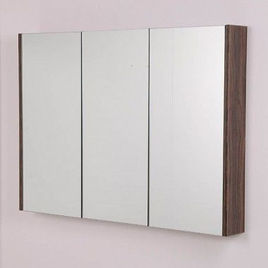 The AspenTM Slimline Mirror Cabinet In Walnut Is Compatible With Bathroom Furniture Range Tabor TD And