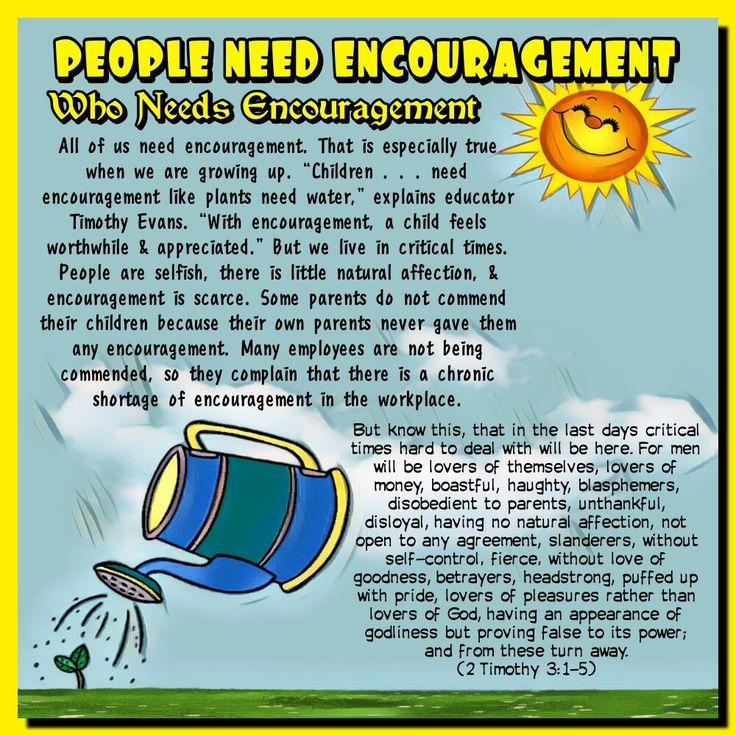 PEOPLE NEED ENCOURAGEMENT (2Timothy 3:1-5)