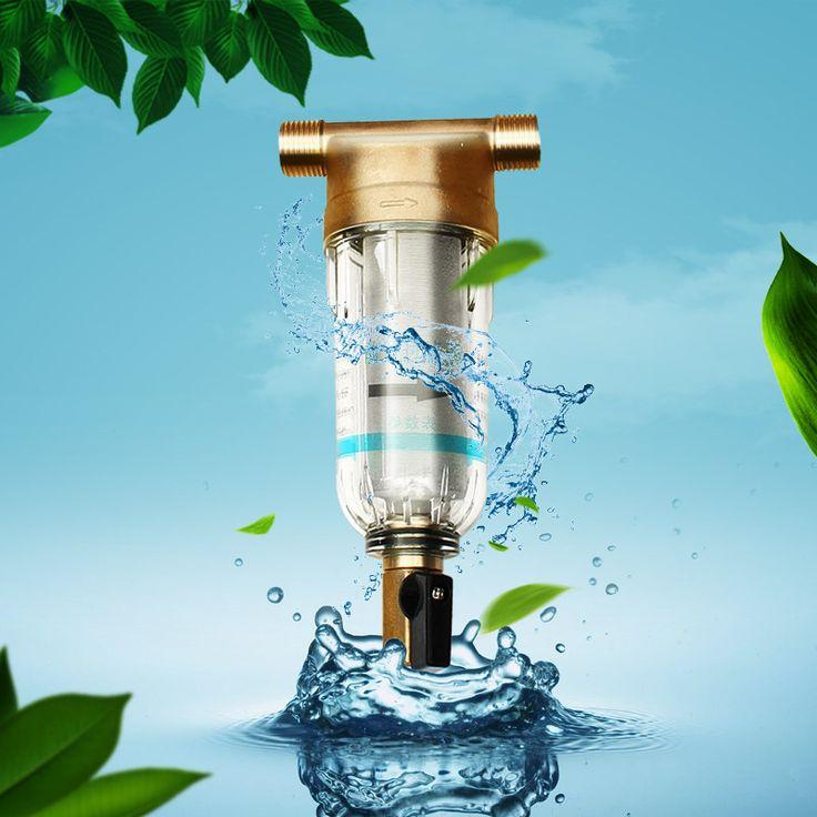 물 필터 정수기 구리 리드 필터 역세 녹 제거 및 퇴적물 파이프 스테인레스 스틸 중앙 전면