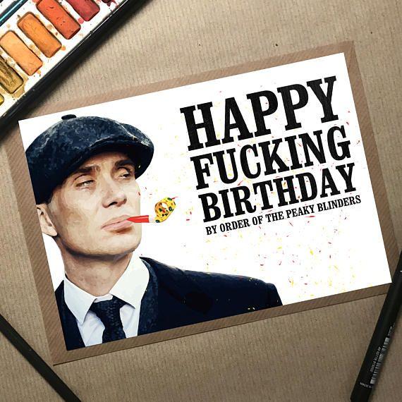 Peaky Blinders Birthday Card Peaky Blinders Card Birthday #birthdaycard #funnybirthdaycard #handmadecard