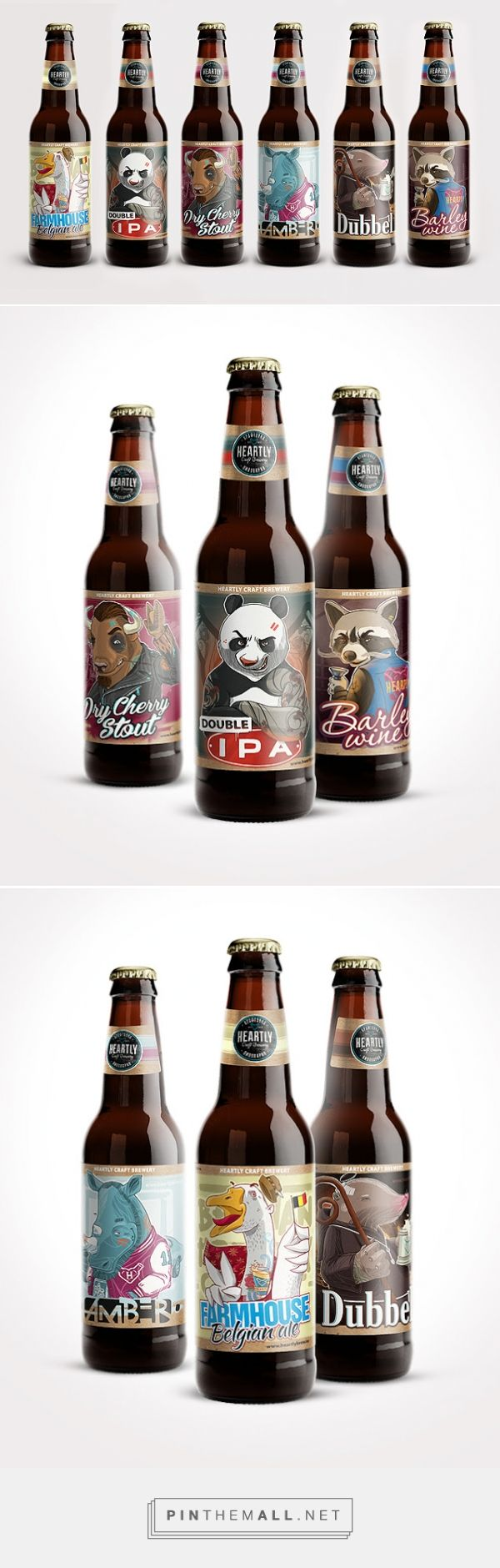 Heartly Craft Beer packaging designed by CUBA Creative Branding Studio - http://www.packagingoftheworld.com/2015/08/heartly-craft-beer.html