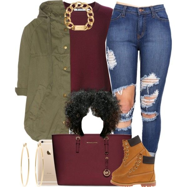 I feel much better now  by livelifefreelyy on Polyvore featuring polyvore, fashion, style, Current/Elliott, Timberland, MICHAEL Michael Kors, Michael Kors, Brooks Brothers, women's clothing and women's fashion