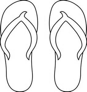 Image Detail for - Flip Flops Line Art - Free Clip Art
