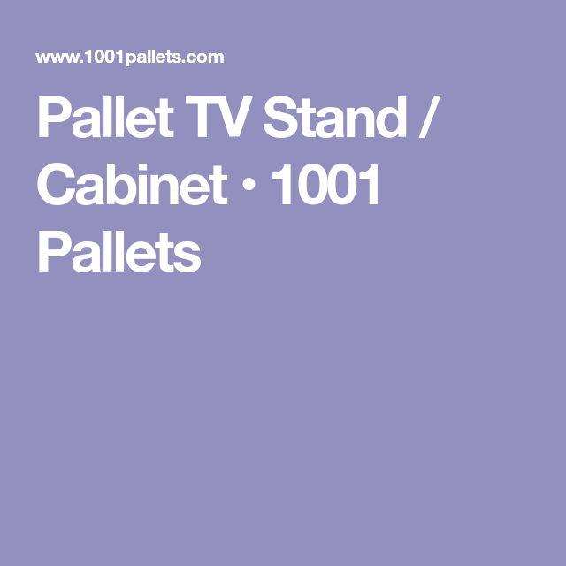 Pallet TV Stand / Cabinet • 1001 Pallets