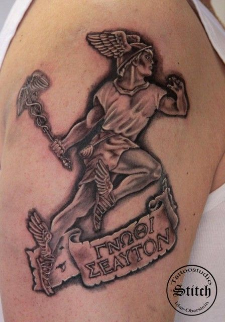 Best 25 hermes tattoo ideas on pinterest small wing for Neo pagan tattoos