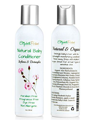 Organic Baby Hair Conditioner  Detangler for Easy to Brush Hair Relieves Scalp Conditions Cradle Cap Dermatitis Eczema Dandruff etc 4ounce ** Click image to review more details.