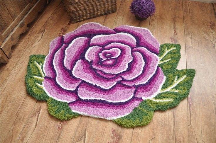 Country Style Victorian Purple Rose Living Bedroom Floor Mat Rug Runner Carpet in Home & Garden, Rugs & Carpets, Door Mats & Floor Mats | eBay