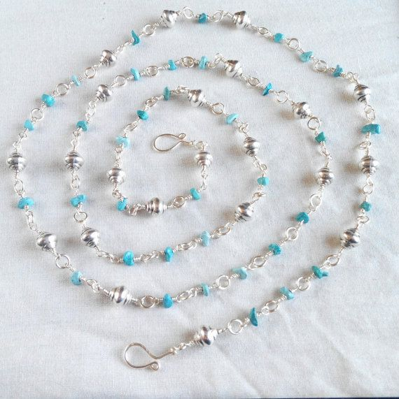handcrafted genuine turquoise gemstone rosary link by terramor