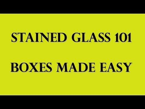 How to Begin Stained Glass Art : How to Make Lines & Curves in Stained-Glass Projects - YouTube
