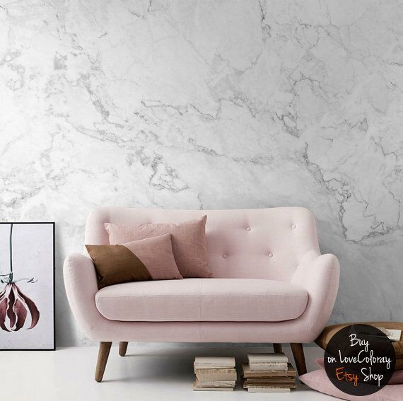 White Marble Removable Wallpaper | Stone Texture Wall Mural – Peel and Stick Wallpaper  | Self Adhesive Marble Pattern Mural by loveCOLORAY on Etsy https://www.etsy.com/listing/453469458/white-marble-removable-wallpaper-o-stone