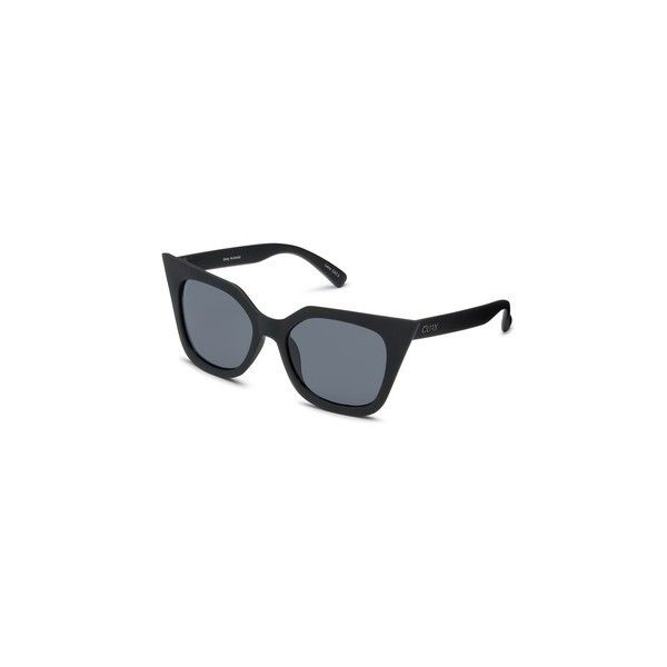 Harper Sunglasses by Quay Australia (76 AUD) ❤ liked on Polyvore featuring accessories, eyewear, sunglasses, black, topshop sunglasses, metal sunglasses and metal glasses