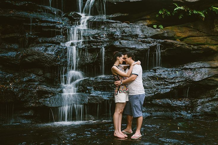 Somersby Falls Central Coast engagement photography. Image: Cavanagh Photography http://cavanaghphotography.com.au