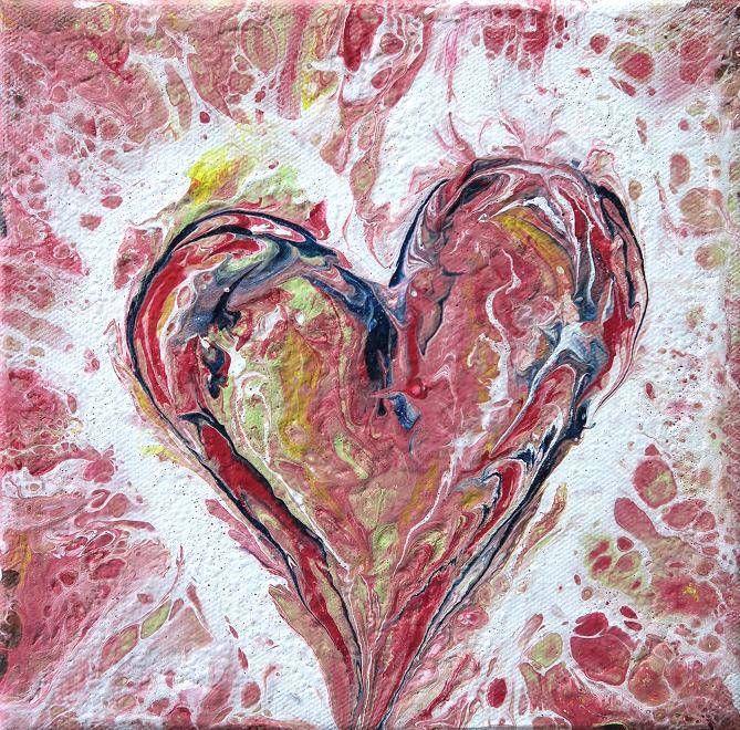 Herz Acrylbilder Malerei Und Painting