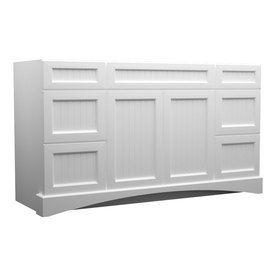 Kraftmaid Summerfield Nordic White Casual Bathroom Vanity Common 60 In X 21