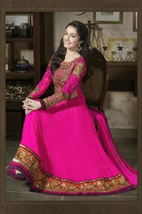 Ravishing Shraddha Kapoor Designer Anarkali Suit