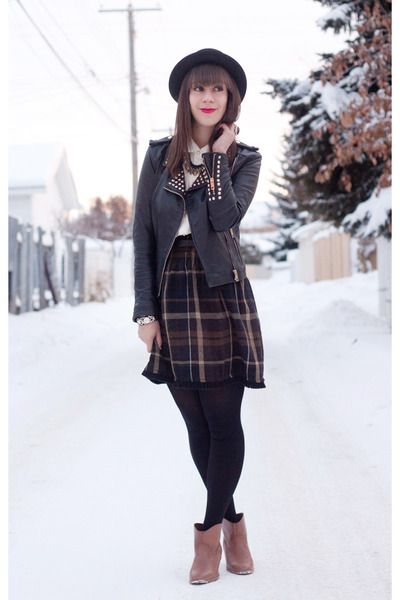 a21d45ecc4c 38 best images about Brown Plaid Skirt Outfit on Pinterest