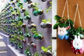 Resultado de imagen para macetas con material reciclado para niños