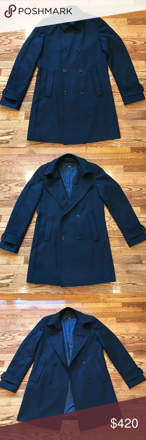 Flash sale💰Hugo Boss coat for men. Only worn couple times. Just like new, no stain. No flaw. No trade Hugo Boss Jackets & Coats