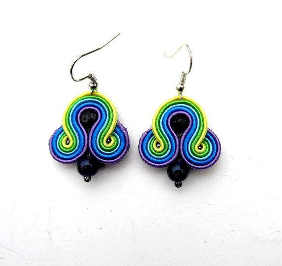 Fashionable Earrings Soutache Earrings Top Rainbow Soutache Jewelry