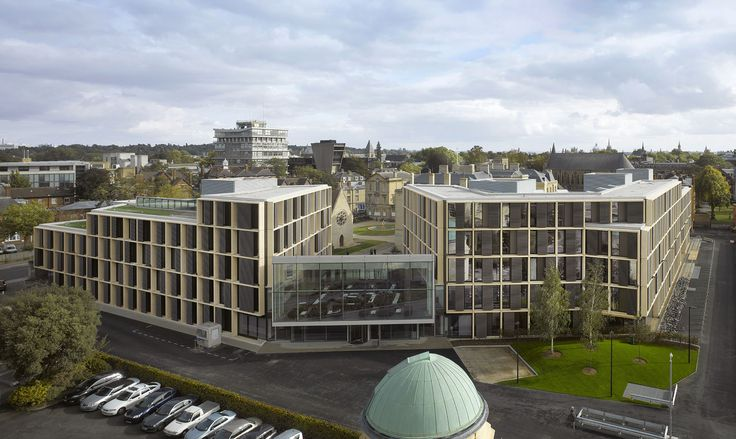 University of Oxford, Mathematical Institute – Andrew Wiles Building | Rafael Viñoly Architects | Aerial view. Photo: Will Pryce