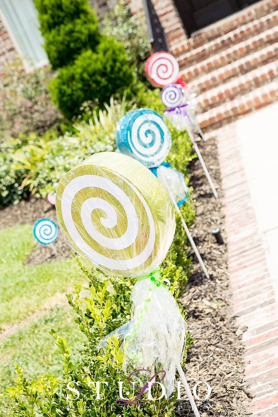 Faux Glittered Lollipop Props 5ct. by itzwhimzeycal on Etsy, $25.00. Also check out my shop for cute colorful candy color tutus. www.partiesandfun.etsy.com