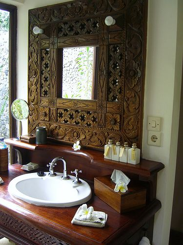 Carved mirror - Ubud Bali - love it x