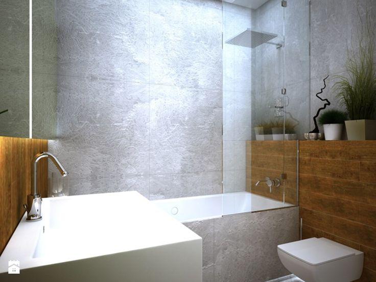 Mała łazienka w bloku bez okna, styl nowoczesny - zdjęcie od SCENERIA Julia Nowacka