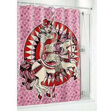 Carousel Pinup Shower Curtain