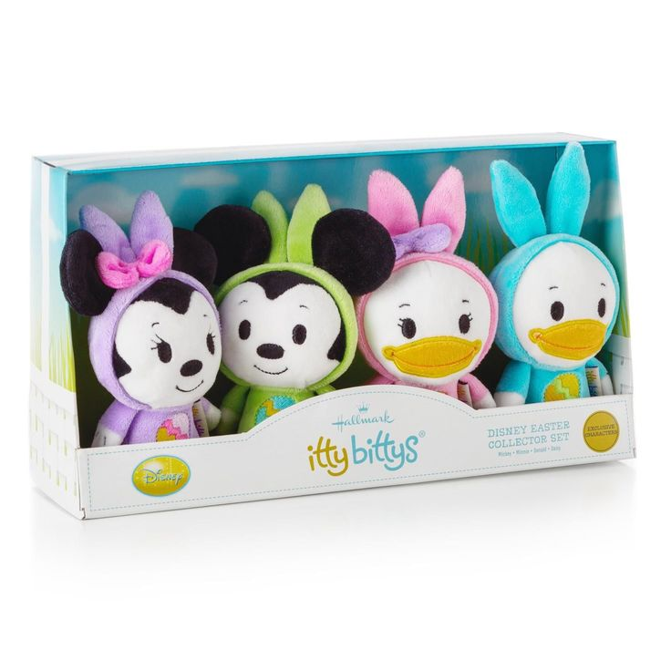 18 best itty bittys hallmark images on pinterest stuffed animals itty bitty collector set bunny ears mickey minnie donald and daisy anytime gifts hallmark i want these in my easter basket negle Image collections