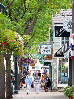 Charlevoix, Michigan is a Northern Michigan lakeside village surrounded by 3 lakes; Lake Michigan, Round Lake (downtown) and Lake Charlevoix.