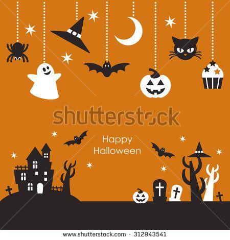 Scenery of Halloween night & Ornaments