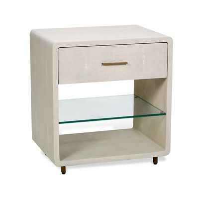 Interior HomeScapes offers the Calypso Bedside Chest - Ivory by Interlude Home.  Visit our online store to order your Interlude Home products today.