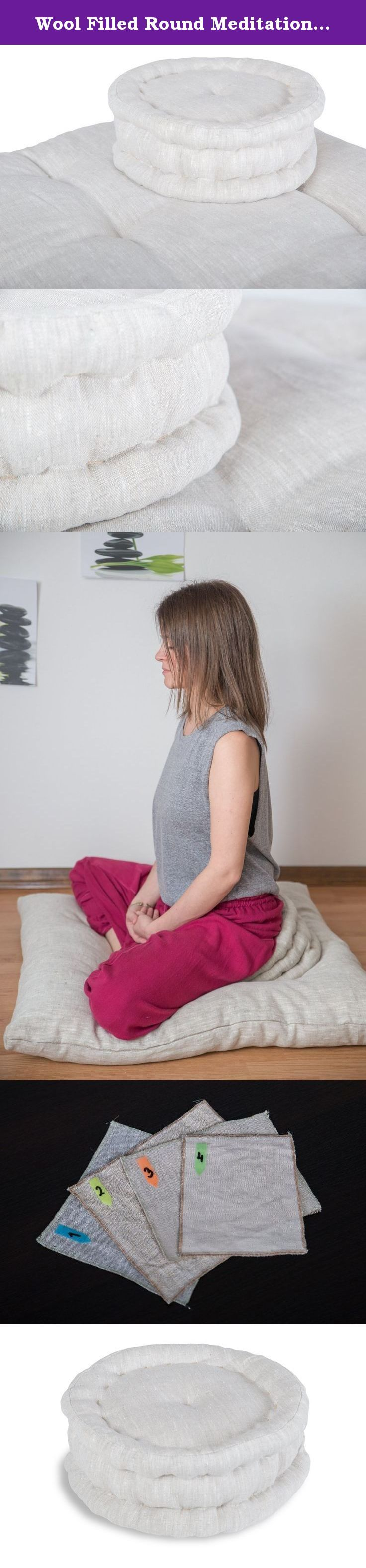 Wool Filled Round Meditation Cushion, Floor Cushion, Floor Pillow, Meditation Pillow, Meditation supplies. WE OFFER CUSTOM SIZES FOR MEDITATION CUSHION! Meditation is one of the best and useful ways for blocking out all the negative influences of the external world, and y time to dedicate for ourselves. Positive effects of natural materials help with deeper meditation so that your mind calms down and fills with fresh energy. With its design and padding provides mindful meditation. It can…