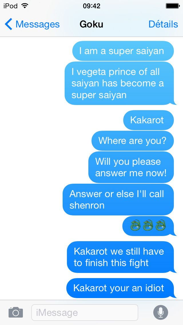 Kakarot doesn't wan't to answer me