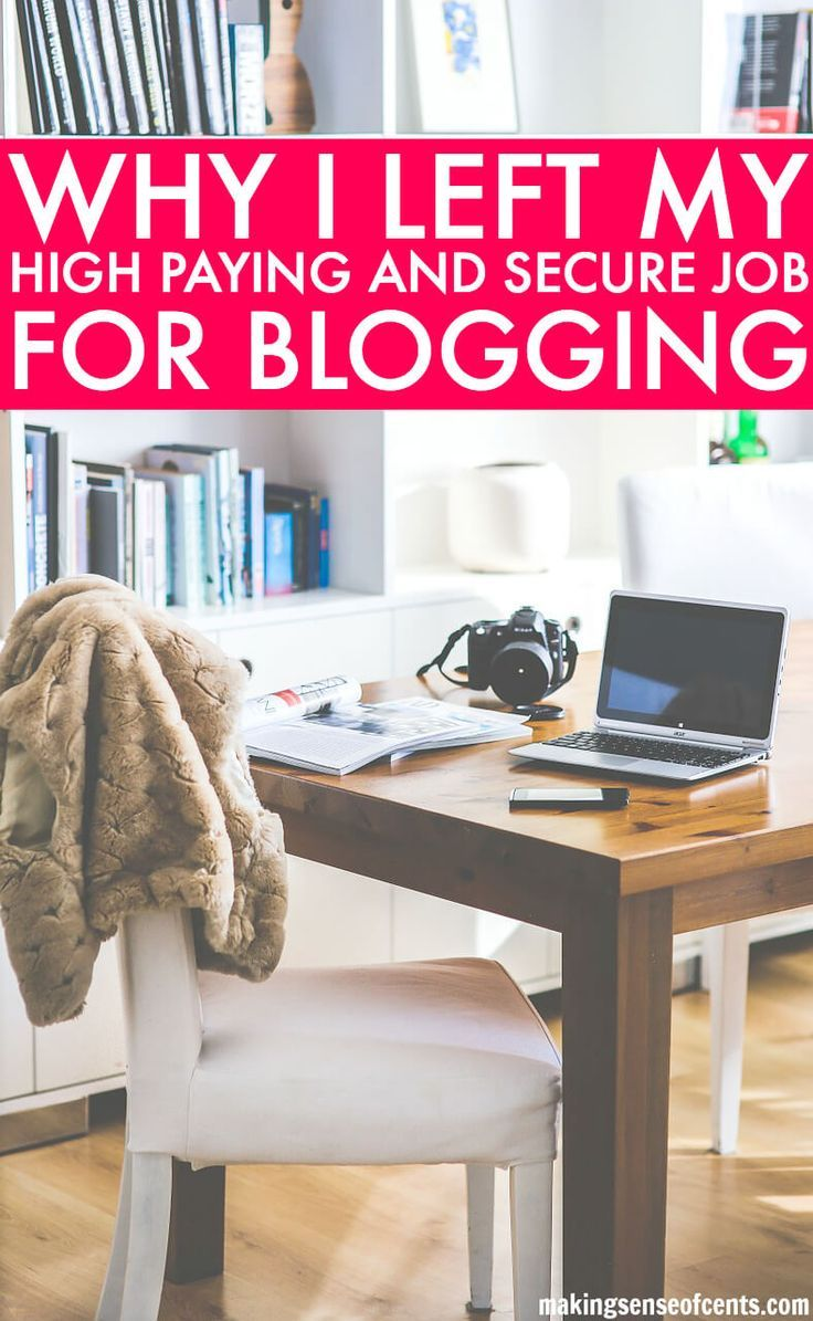 Blogging As A Career After Starting Your Own Blog. I'm happier than ever as a full-time blogger and online business owner and I could never imagine a life different from the one I'm currently living. If starting your own blog, earning a living, and blogging as a career makes you happy, then you should go for it as well!
