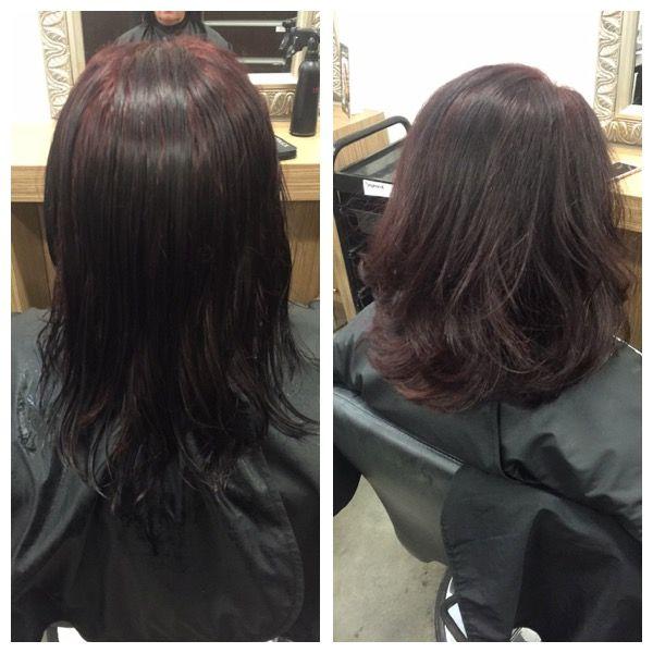 blowdry and haircut