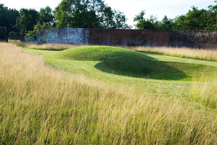 21 best mound berm images on pinterest landscape for Wild grass gardens