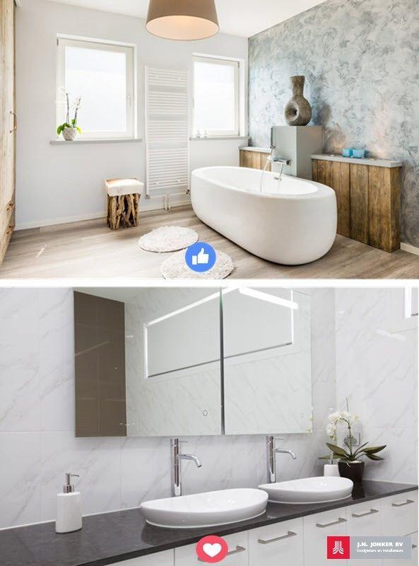 1000 idee n over badkamer dubbele wastafel op pinterest dubbel wastafelmeubel dubbele - Huis wastafel ...