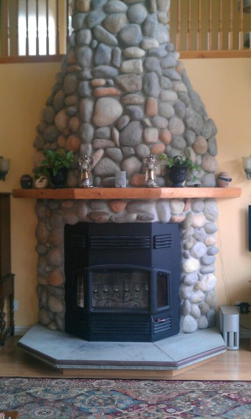 faux stone fireplace fireplaces pinterest